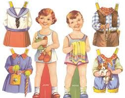 1950s toy paper dolls