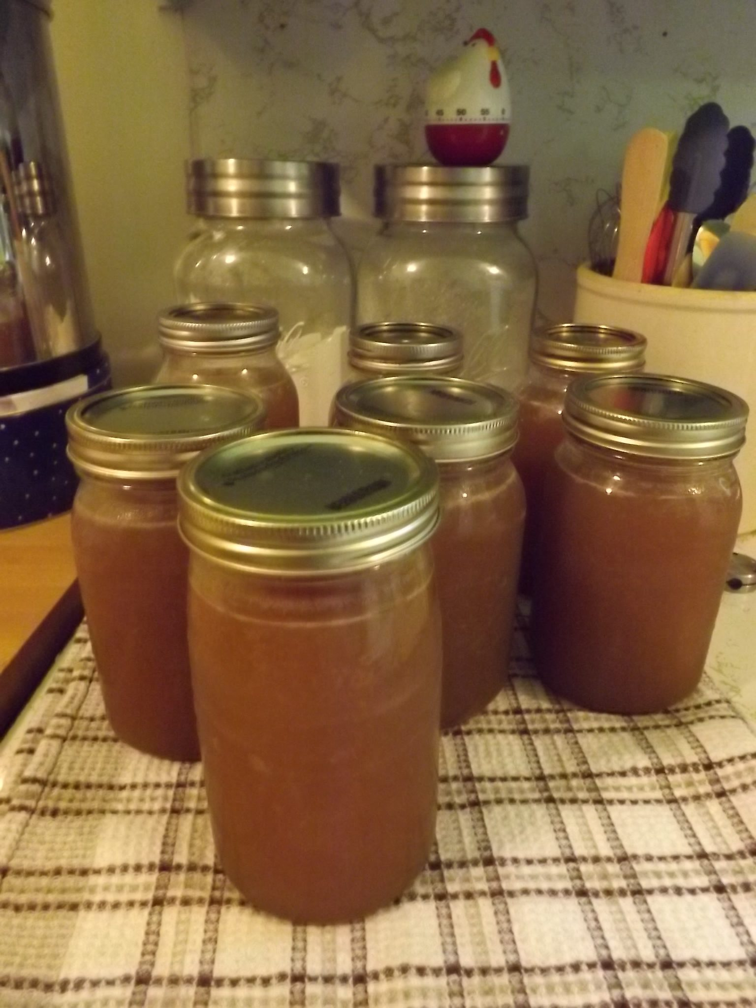 jars of canned beef bone broth