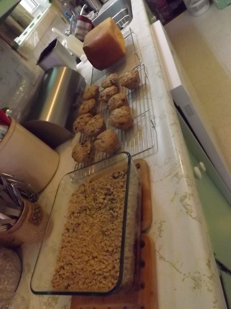 Mincemeat Squares, Apple Muffins, White Bread