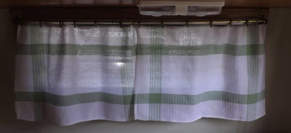 Iris tea towel curtain