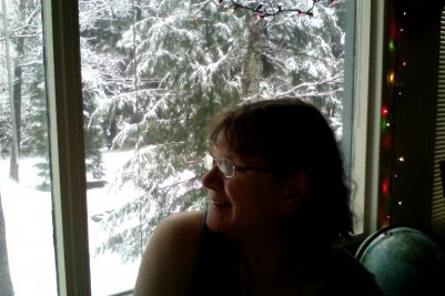 Enjoying the snowfall while I recover from the not-the-end-of-the-world  flu, December 21, 2012.
