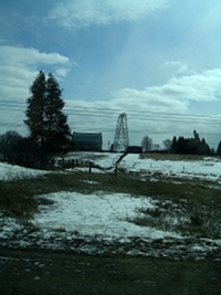 Sun Emerges Near Peterborough Ontario, February 19, 2011