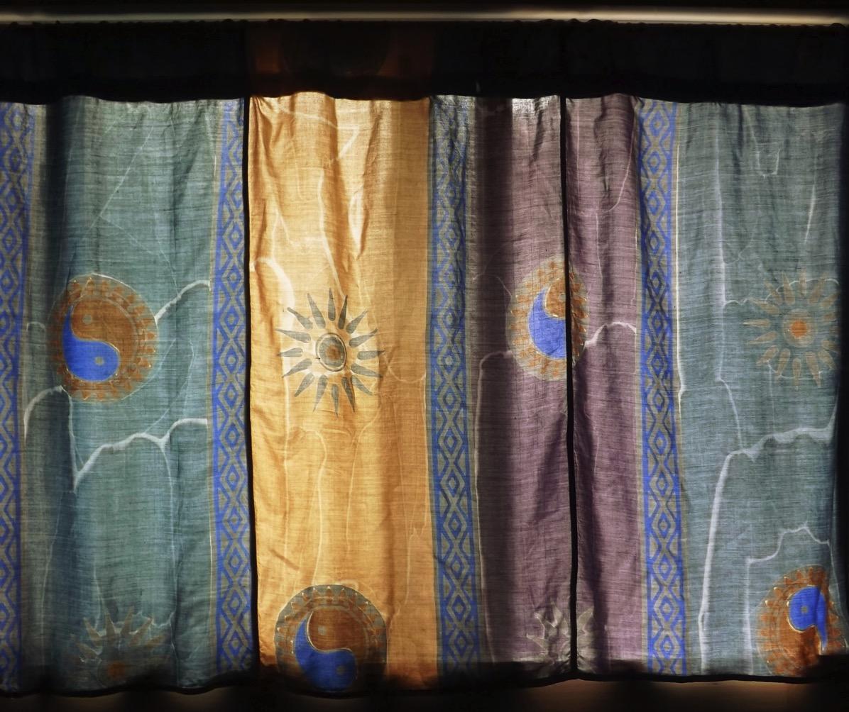Basement curtain from skirt