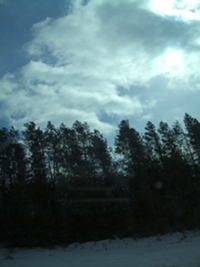 Clearing Sky, Near Peterborough Ontario, February 19,2011
