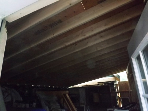 Garage roof sheathing complete interior