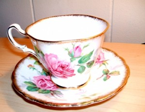 My Grandmother's Tea Cup and Saucer, Berkeley Rose
