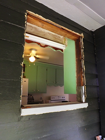 hole for kitchen window