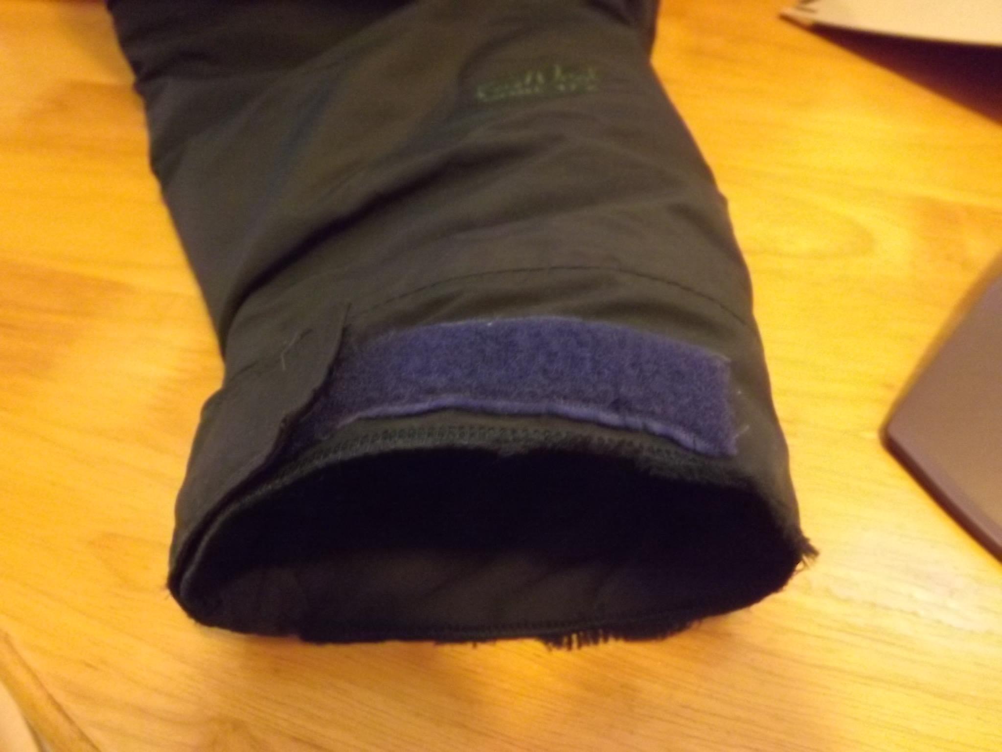 repaired parka cuff